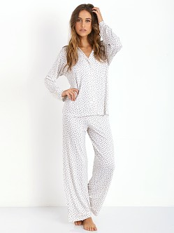 Eberjey Sleep Chic PJ Set Shitake Animal