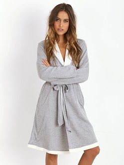 Eberjey Alpine Chic Classic Robe Light Heather Grey