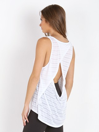 Beyond Yoga Beachside Open Back Top White