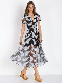 Line & Dot Soft Feather Dress Black Feather