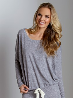 Eberjey Heather Slouchy Tee Heather Grey