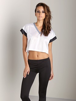 First Base Cropped Team Tee White