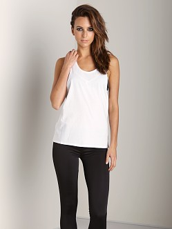 First Base Super Dropped Armhole Tank White