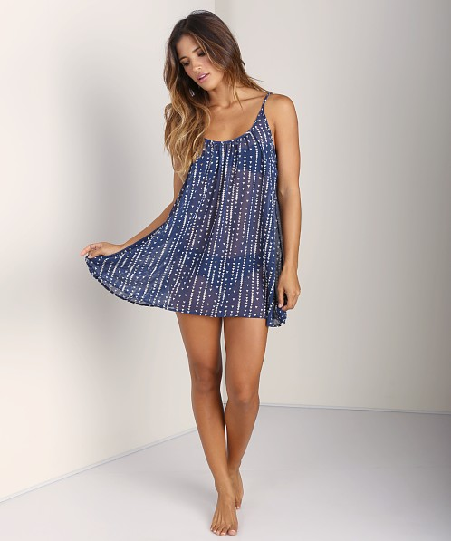 9seed St Barts Spaghetti Strap Short Coverup Navy Arrow