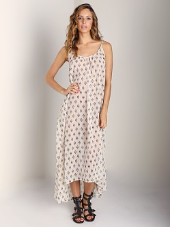 9seed Tulum Spaghetti Strap Long Coverup Ivory Deco