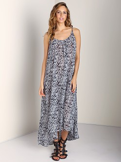 9seed Tulum Spaghetti Strap Long Coverup Snow Leopard