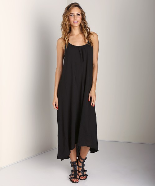9seed Tulum Spaghetti Strap Long Coverup Black