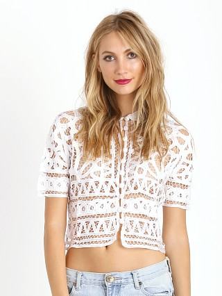 Stone Cold Fox Carolina Top White