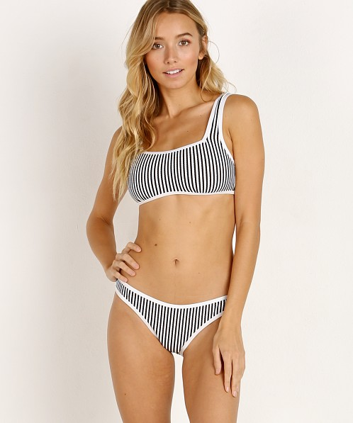 Zulu & Zephyr Rift Bralette Bikini Set Black and White