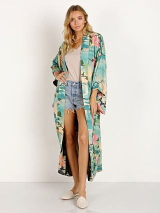 Spell & The Gypsy Nightingale Reversible Maxi Kimono Green