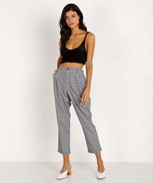 ASTR the Label Elliot Pant Grey Plaid