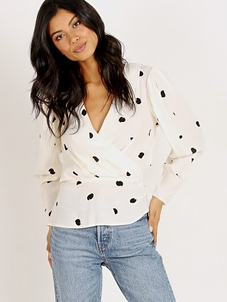 ASTR the Label Mia Top Cream Black Dot