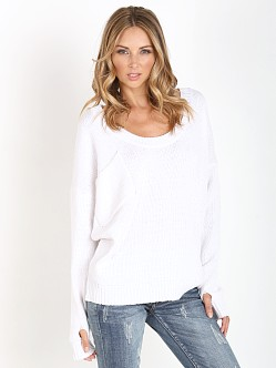 One Teaspoon Original Chunky Knit White