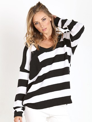 One Teaspoon Original Chunky Knit Black White