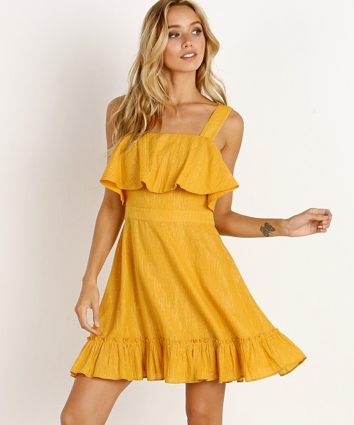 Cleobella Galina Dress Marigold Lurex