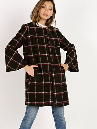 BB Dakota Hewes Flare Sleeve Check Coat