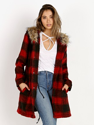 BB Dakota Lia Buffalo Plaid Coat