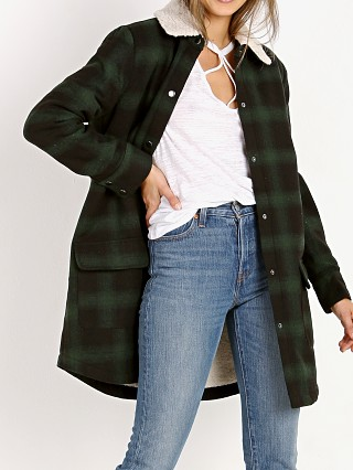 BB Dakota Bradley Plaid Jacket with Sherpa Collar