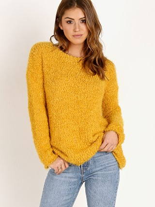 BB Dakota Debra Boucle Yarn Sweater Royalty Yellow