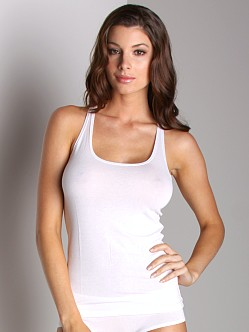 Only Hearts Feather Weight So Fine Racer Tank White