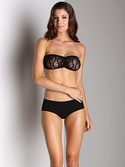 Only Hearts Stretch Lace Bandeau Black