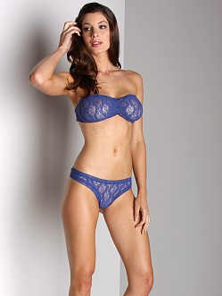 Only Hearts Stretch Lace Thong Lapis