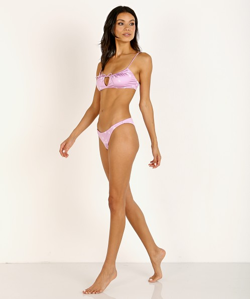 Bond-Eye Thread To It Crop Bikini Top Lilac