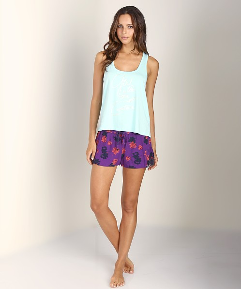 Juicy Couture Graphic Tank Aqua Sky