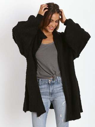WILDFOX Solid Misty Morning Coat Clean Black