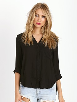 Bella Dahl Shirttail Button Down Black