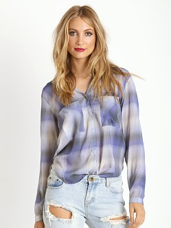 Bella Dahl Hipster Shirt Ethereal Blue Plaid
