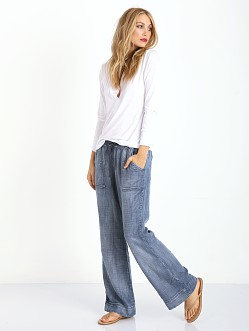 Bella Dahl Easy Pocket Wide Leg Ice Wash