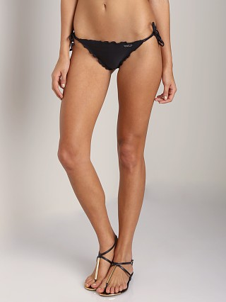 Model in black Seafolly Shimmer Brazilian Tie Side