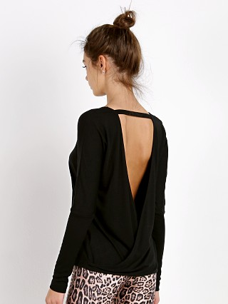 Onzie Drapey V Back Top Black