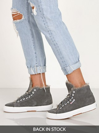 Superga 2795 Shearling Lined Grey Dark