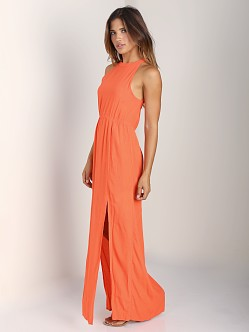 MinkPink Sweet Slice Maxi Dress Coral Orange