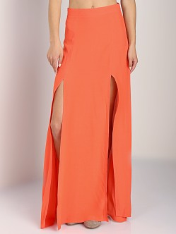 MinkPink Sweet Slice Sweet Slice Maxi Skirt Coral Orange