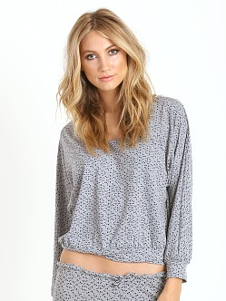 Eberjey Starry Eyed Dolman Sleeve Top Heather Grey/Black
