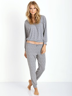 Eberjey Starry Eyed Track Pant Heather Grey/Black