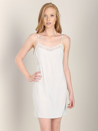 Calvin Klein Crochet Lace Chemise Baltic Sea