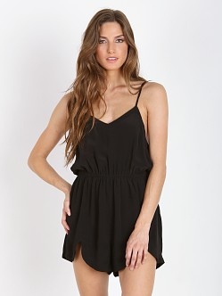 MinkPink Confession Playsuit Black