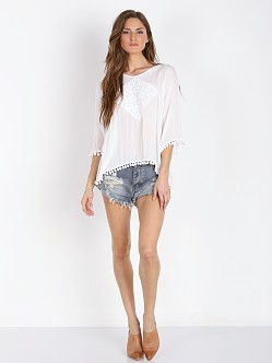MinkPink Believer of Mermaids Top White