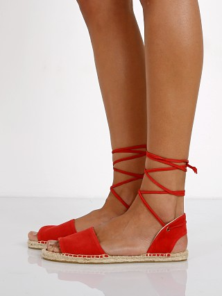 Soludos Balearic Tie Up Sandal Fire Red