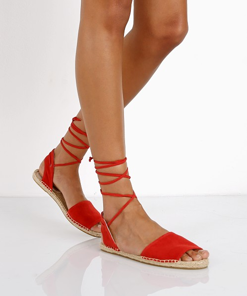 Soludos Balearic Tie Up Sandal Fire Red 1000142 - Free Shipping at Largo  Drive 009e09d201a2