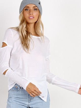 n: PHILANTHROPY Gloria-Long Sleeve With Cut Out Detail White