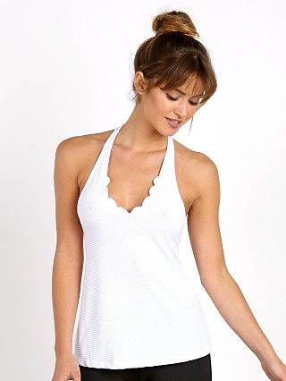Track & Bliss Scalloped Sweetheart Strappy Tank White