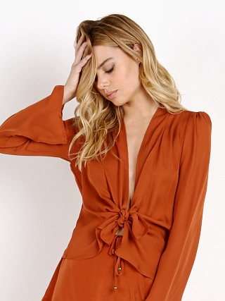 Stone Cold Fox Medici Blouse Burnt Orange