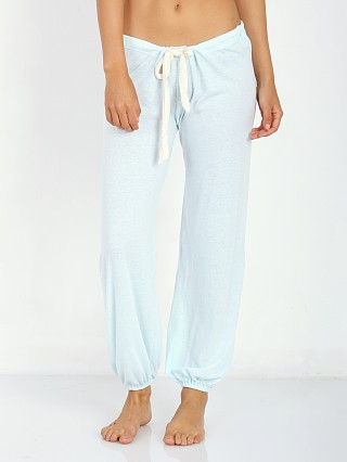 Eberjey Heather Cropped Pant Sky