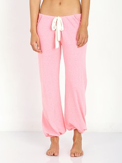 Eberjey Heather Cropped Pant Pink Glow