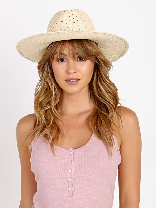 Janessa Leone Cinc Wide Brimmed Panama Hat Natural